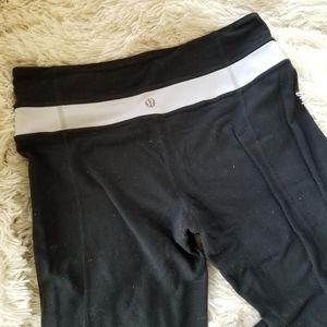 Lululemon black flared leggings 4